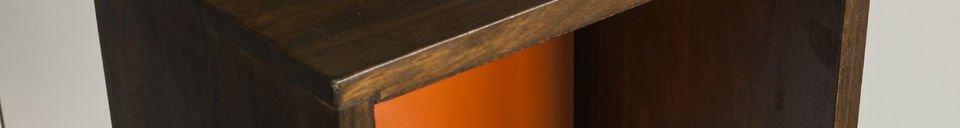 Mise en avant matière Casier sur Pied Yumi orange