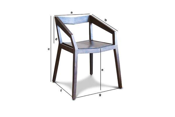 Dimensions du produit Chaise à accoudoirs Balkis