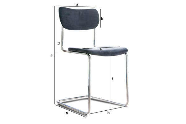 Dimensions du produit Chaise Back in Norway Grise