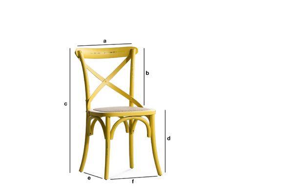 Dimensions du produit Chaise bistrot Pampelune Jaune