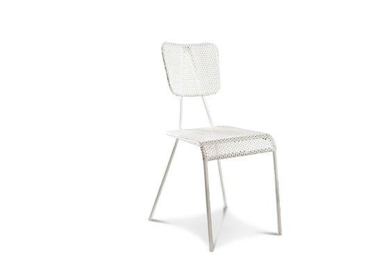 Chaise blanche Métalo Détouré