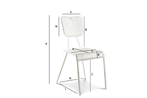 Dimensions du produit Chaise blanche Métalo