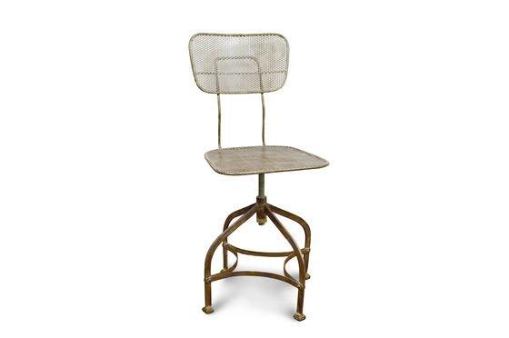 Chaise d 39 atelier en t le perfor e style atelier pib for Chaise tole