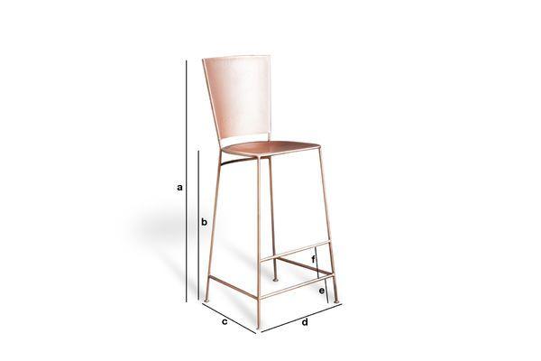 Dimensions du produit Chaise de bar cuivrée Belery