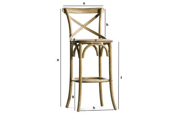Dimensions du produit Chaise de bar Pampelune