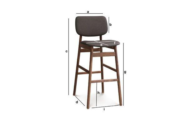 Dimensions du produit Chaise de bar Rainssön