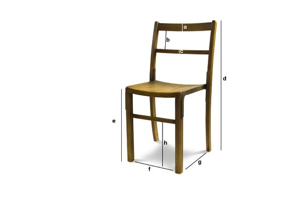 Dimensions du produit Chaise de bistrot Abbesses