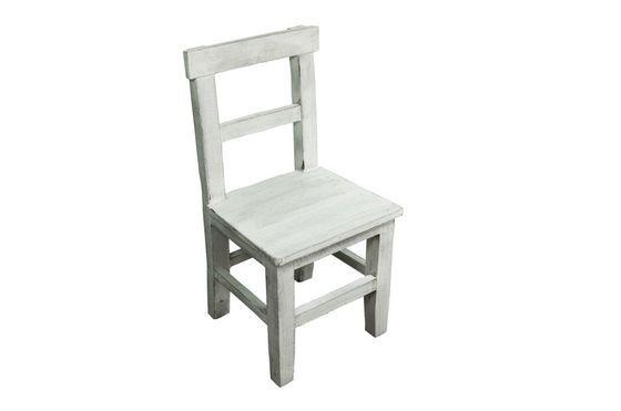 Chaise d'enfant en bois blanchi Détouré