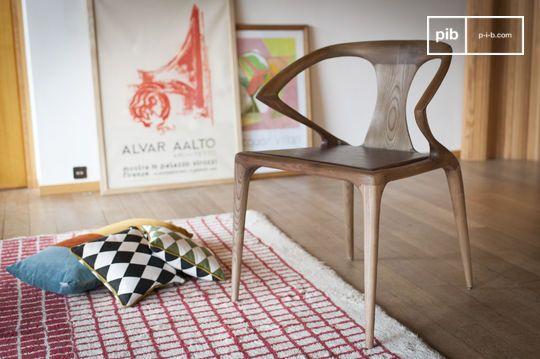 Chaise en bois cintré Kirsten