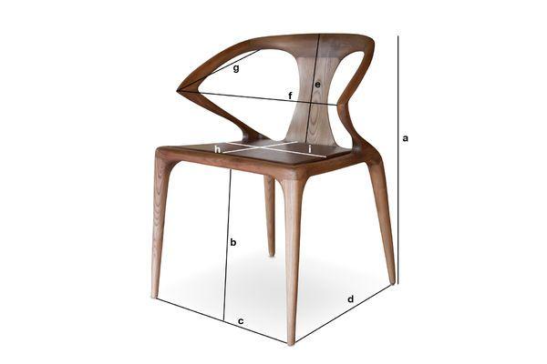 Dimensions du produit Chaise en bois cintré Kirsten