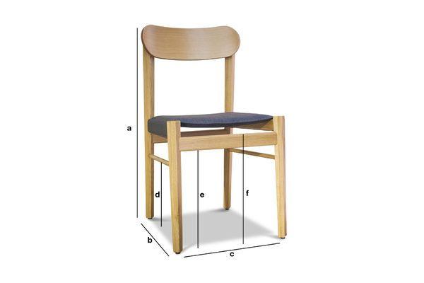 Dimensions du produit Chaise en bois clair Elena