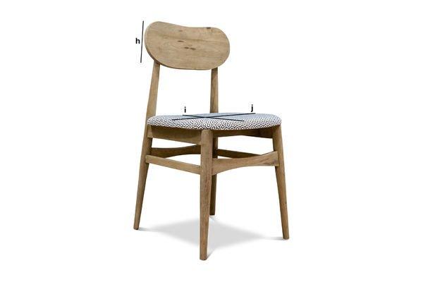 Dimensions du produit Chaise en bois Jotün