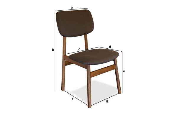 Dimensions du produit Chaise en bois Larssön