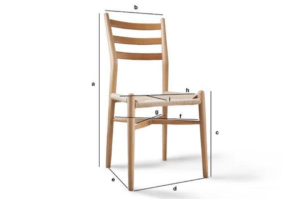 Dimensions du produit Chaise en bois Ystad