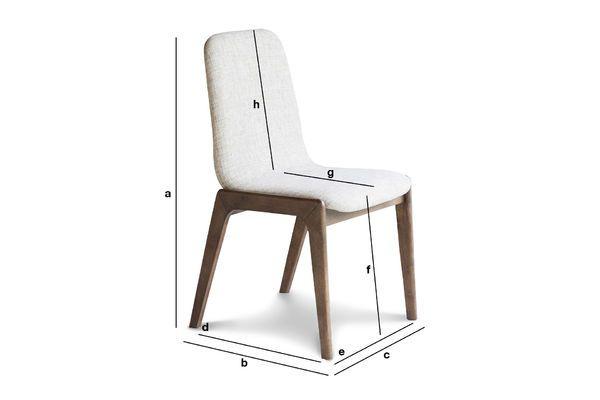 Dimensions du produit Chaise en tissu Stella