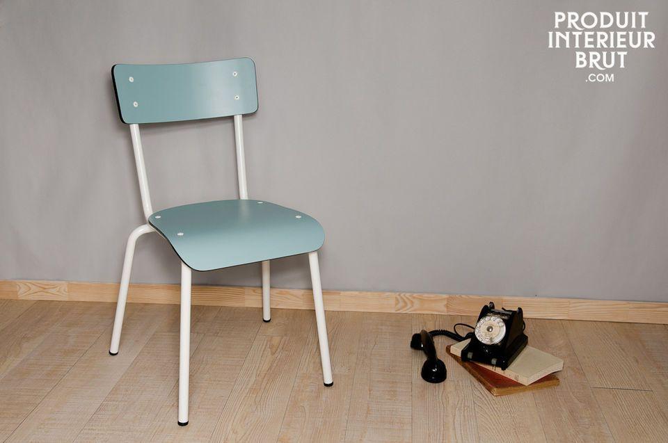 Chaise Gambettes Bleu Jade