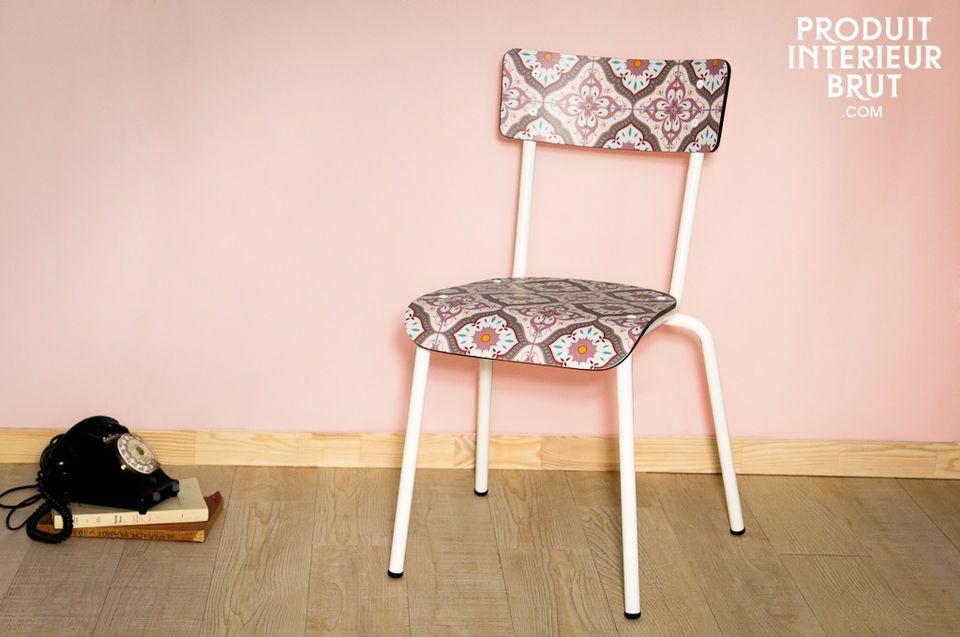 Chaise Gambettes Carreaux de ciment