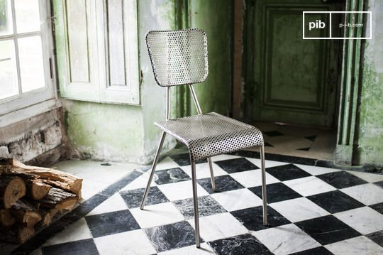 Chaise grise Métalo
