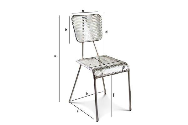 Dimensions du produit Chaise grise Métalo