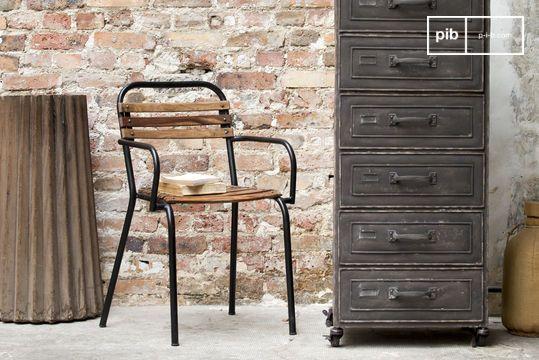 Chaise Design Industrielle Mistral Accoudoirs
