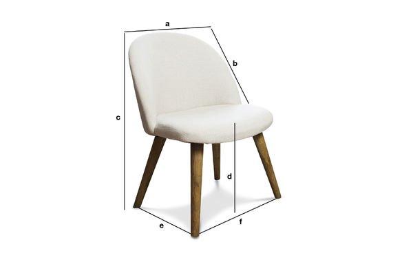 Dimensions du produit Chaise Lear écrue