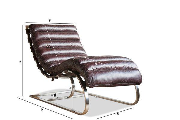 Dimensions du produit Chaise longue Weimar