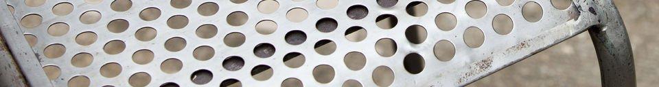 Mise en avant matière Chaise métal Butte aux cailles