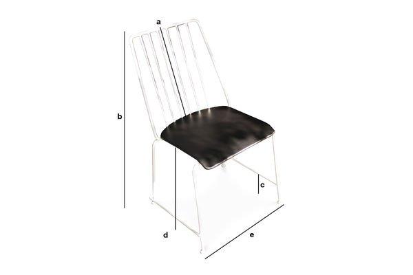 Dimensions du produit Chaise métal Hossegor