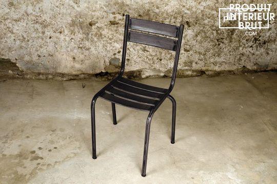 Chaise métal Pretty Black
