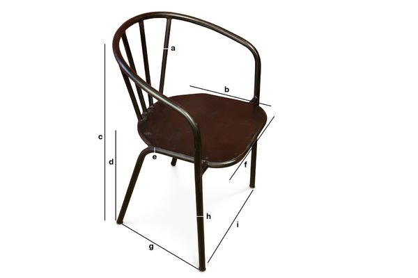 Dimensions du produit Chaise métallique Brienon