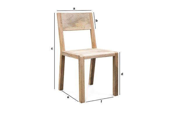 Dimensions du produit Chaise Möka