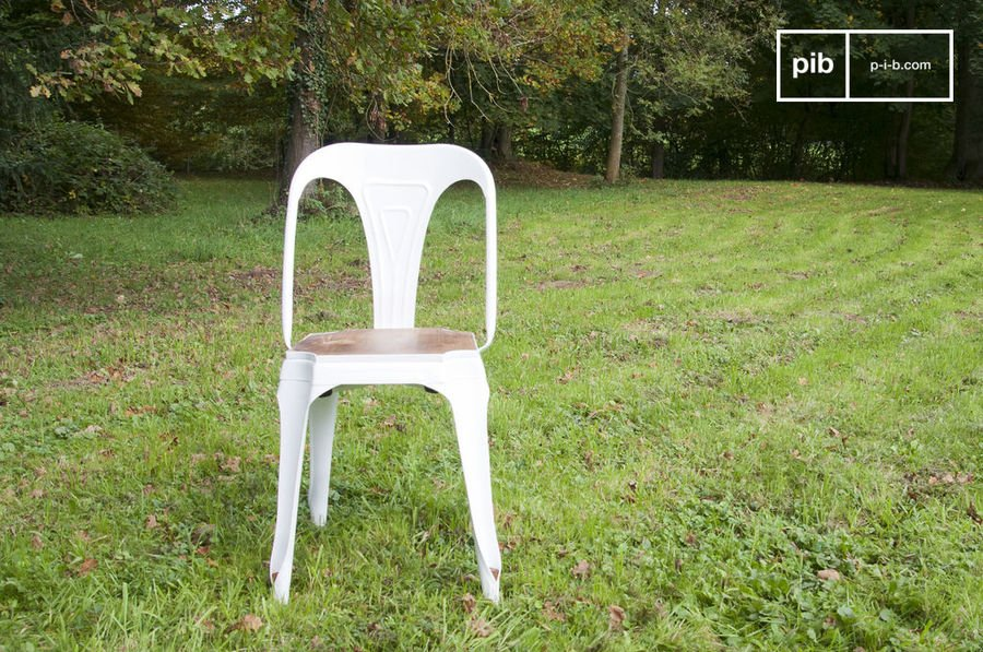 Chaise Multipl's blanche bois