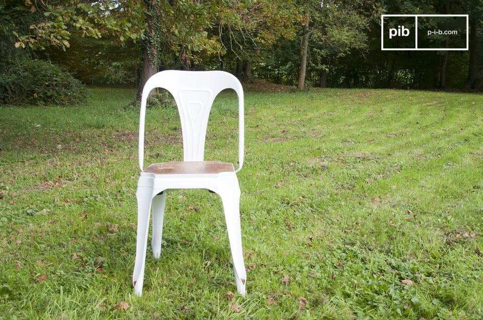 Chaise Multipl's blanche - bois