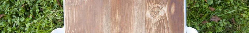 Mise en avant matière Chaise Multipl's blanche - bois