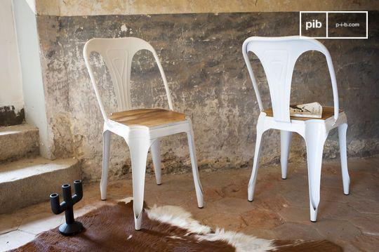 Chaise rustique multipl's blanche - bois