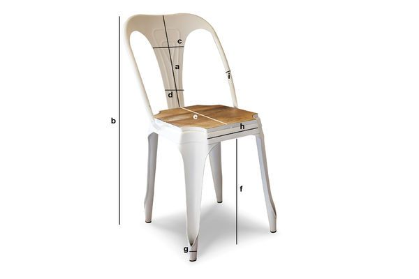 Dimensions du produit Chaise Multipl's blanche - bois