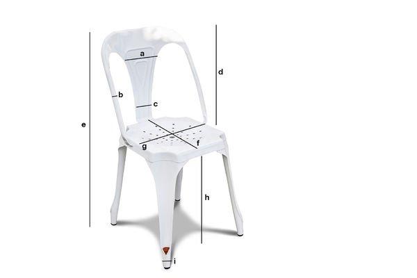Dimensions du produit Chaise Multipl's blanche