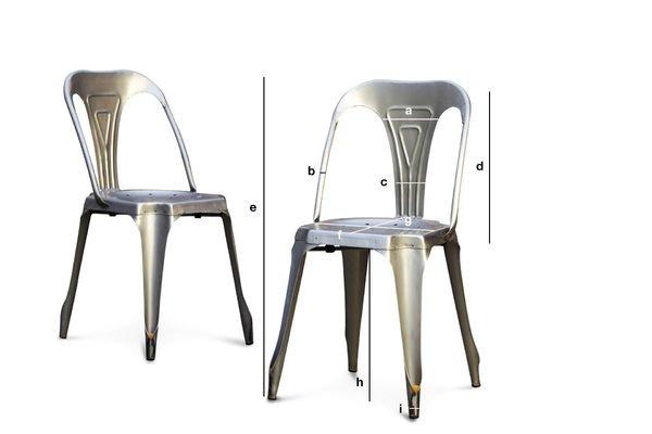 Dimensions du produit Chaise Multipl's finition acier brossé
