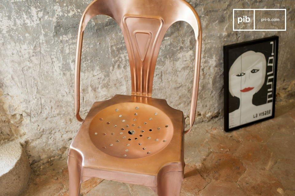 Chaise vintage en métal inspiration Tolix