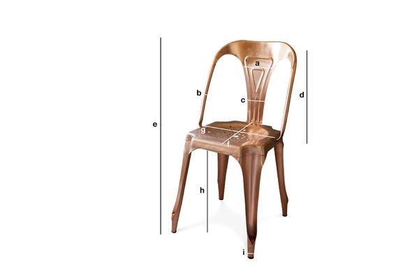 Dimensions du produit Chaise Multipl's finition cuivrée