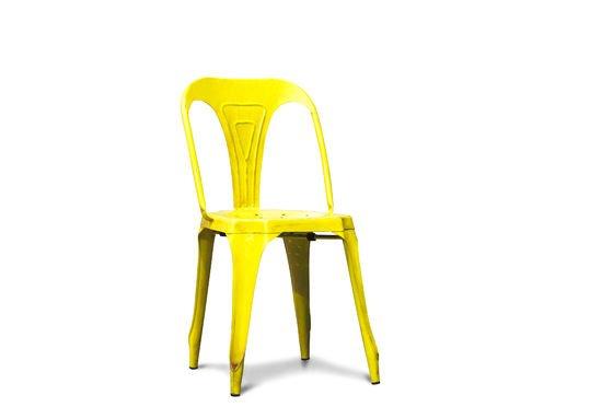 Chaise Multipl's jaune vieilli Détouré