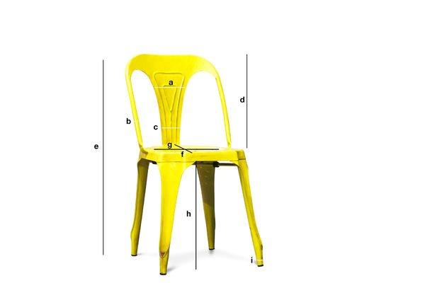 Dimensions du produit Chaise Multipl's jaune vieilli
