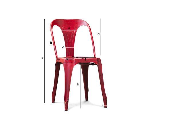 Dimensions du produit Chaise  Multipl's rouge vieillie