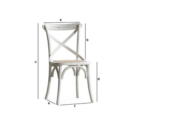 Dimensions du produit Chaise Pampelune Blanche