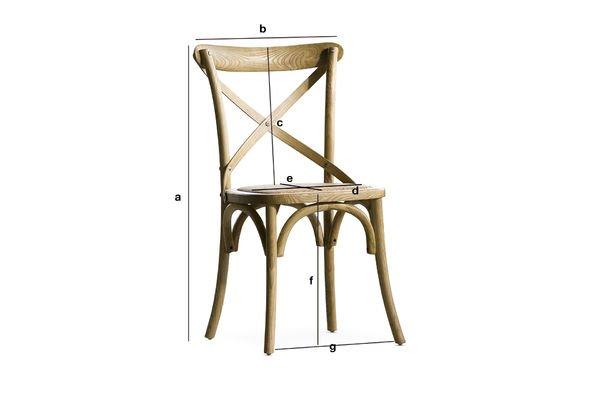 Dimensions du produit Chaise Pampelune finition naturelle