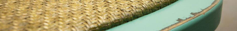 Mise en avant matière Chaise Pampelune turquoise