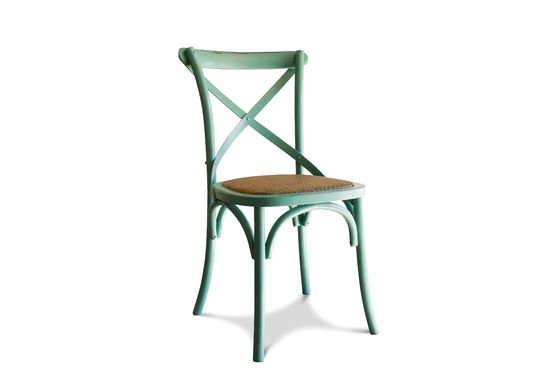 Chaise Pampelune turquoise Détouré