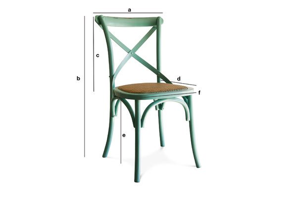 Dimensions du produit Chaise Pampelune turquoise