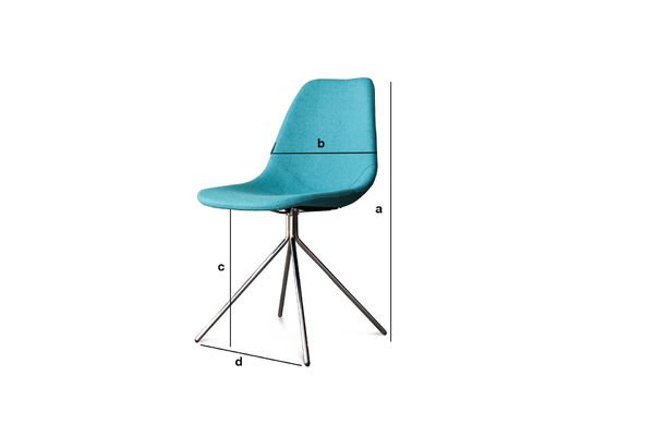 Dimensions du produit Chaise Piramis Bleue