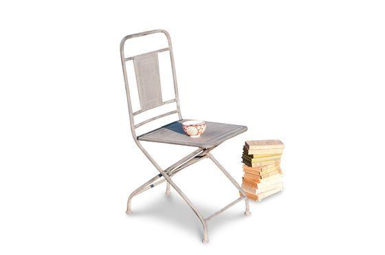 Chaise pliante finition zinc Détouré
